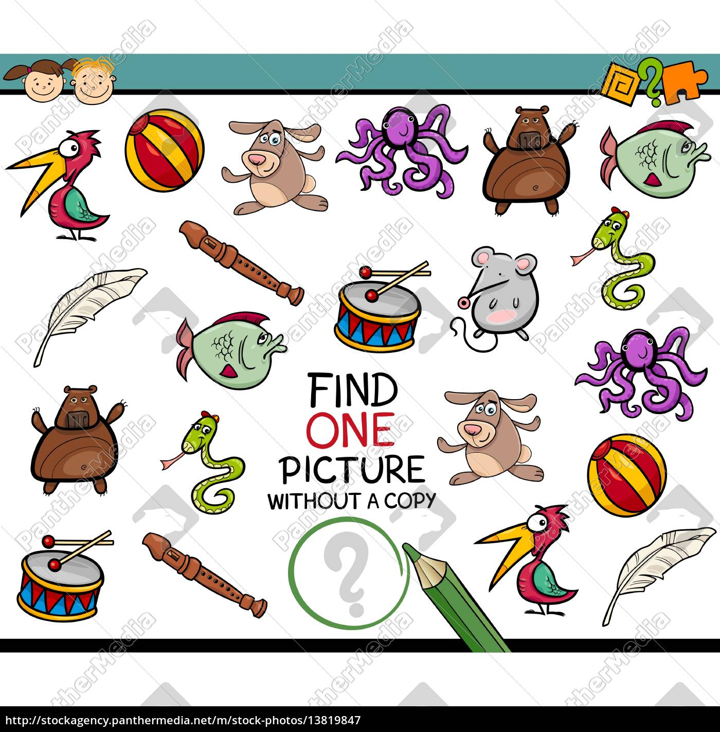 find, single, picture, game, cartoon - 13819847