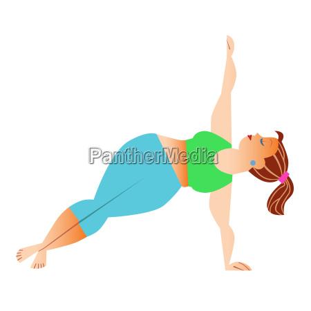 normal a little fat woman doing