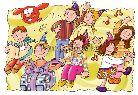 children landscapes animals illustrations children