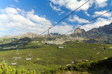 view on mountains in summer with