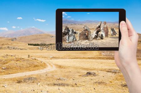 tourist photographs of zorats karer in
