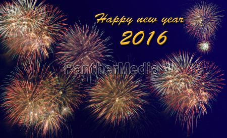 new year 2016 with a large
