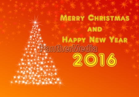 illustration for new year 2016 and