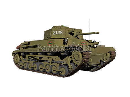 isolated tanks with gun