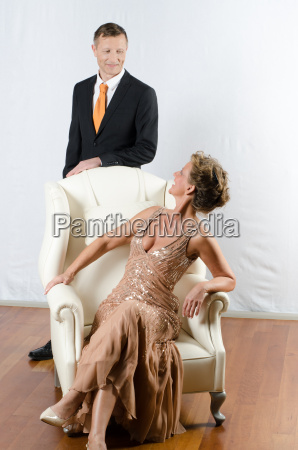 couple at an evening event