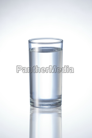 natural pure water in glass on