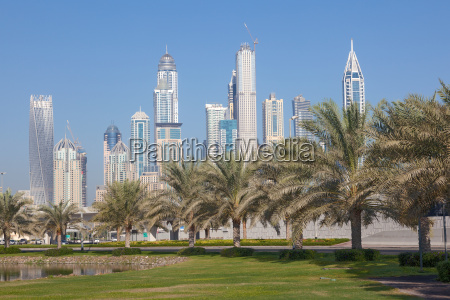 skyscrapers in dubai marina united arab