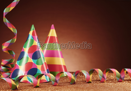 party hats with different designs and