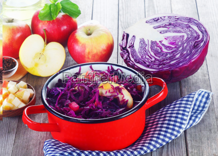 purple cabbage and apple salad recipe