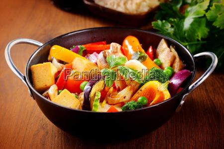 close up healthy main dish on