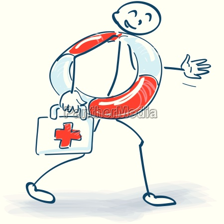 stick figure with first aid