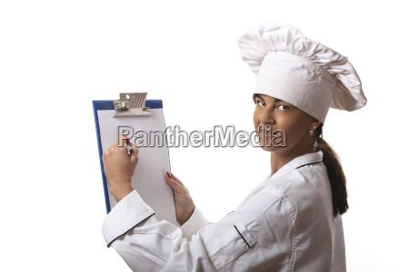 female chef writes