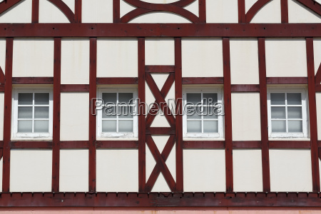 building with wooden beams