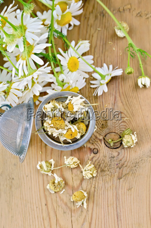 herbal tea from chamomile dry in
