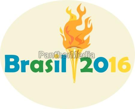 brasil 2016 summer games flaming torch