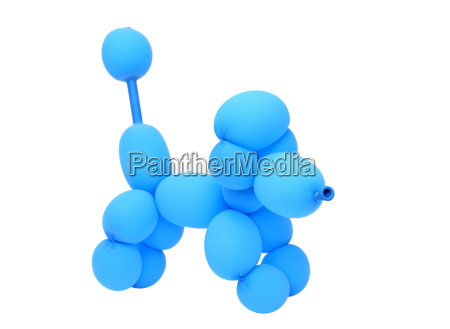animal dog created with balloon