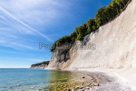 chalk cliffs on the island of
