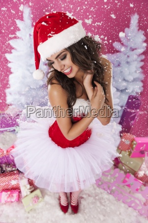 santa claus is enjoying the christmas