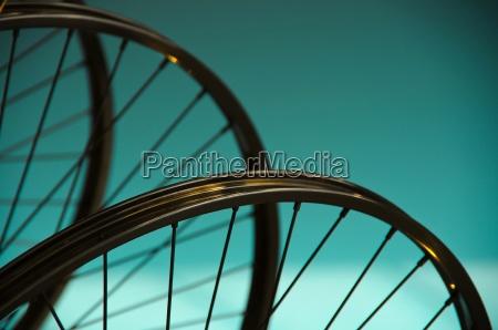 detail of bicycle spokes