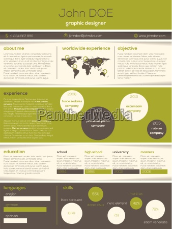 modern resume cv with cool graphics