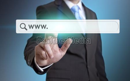 businessman using internet