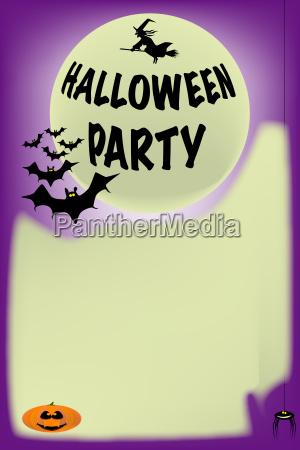 bats halloween poster