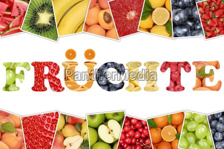 word fruits and fruits like apple