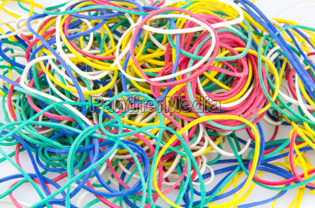 colorful rubber rings