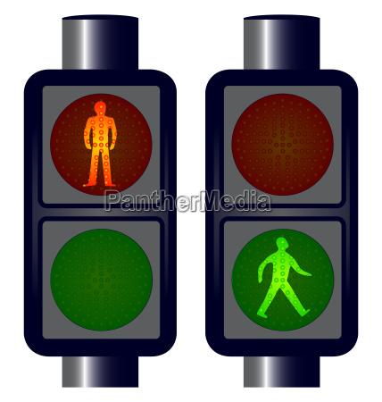 walking man traffic lights