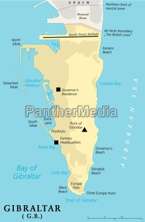 gibraltar political map