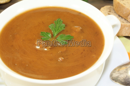 fresh wintery duck soup with parsley