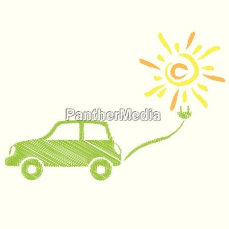 electric car solar power car mechanic