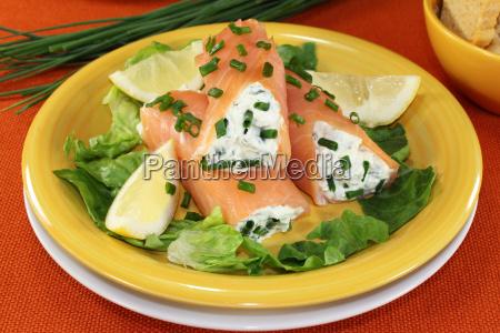 tasty salmon rolls