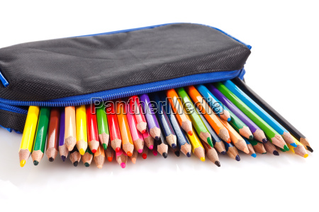color pencils in pencil case