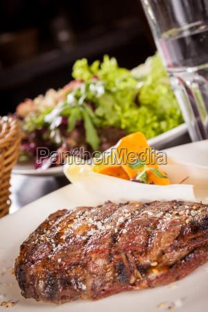 juicy grilled beef tenderloin steak with