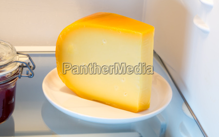 cheese in the fridge with the
