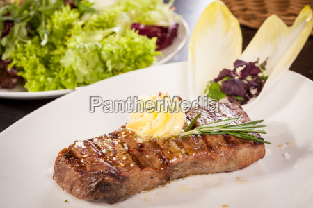 juicy grilled beef fillet steak with