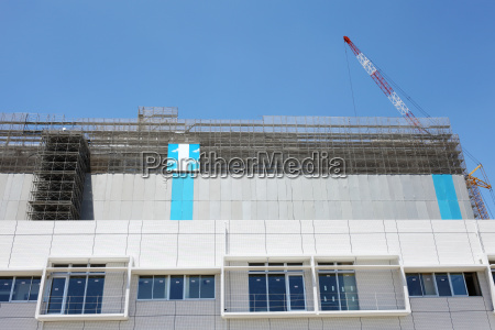 new building construction and construction site