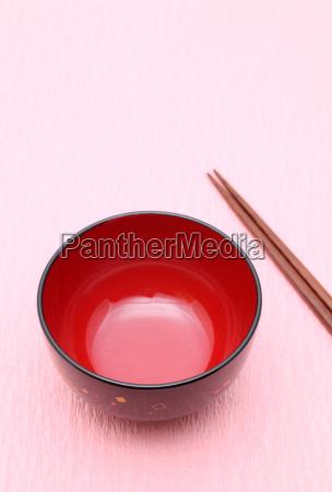japanese tableware bowl chopsticks equipment tools