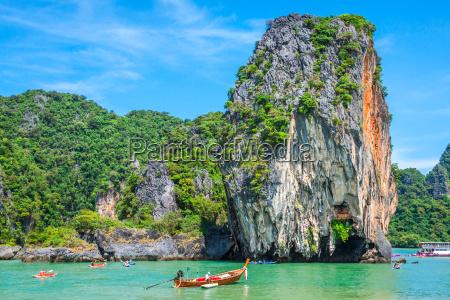 beautiful scenery of phang nga national