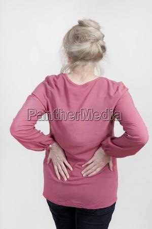 senior with back pain