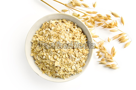 oat flakes with oat stems