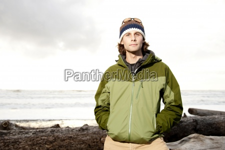 portrait of young outdoorsy man in