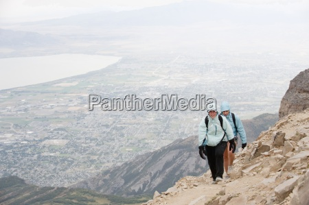 two female hikers near the summit