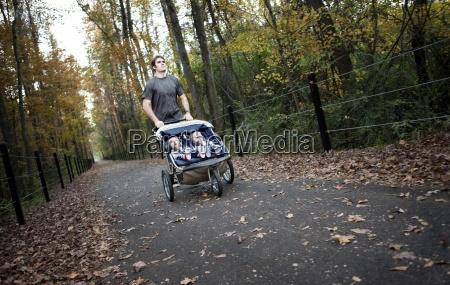 a man runs on a greenway