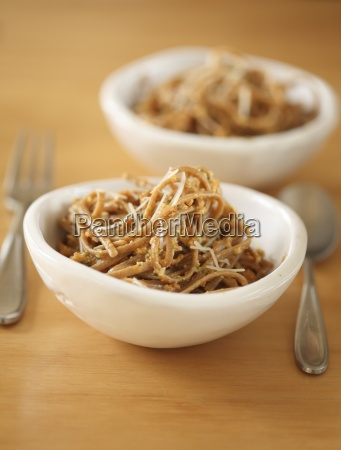linguini with pepper pesto