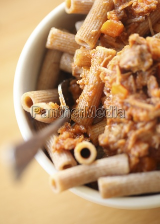 rigatoni pasta with pork ragu