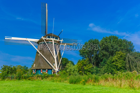 windmill in amsterdam holland netherlands