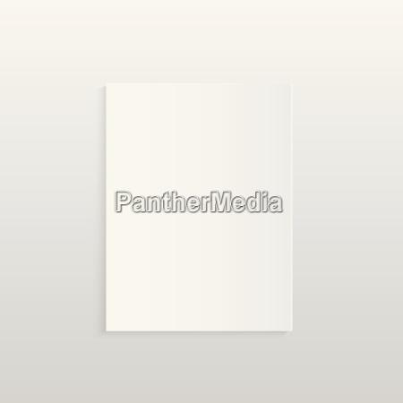 blank paper illustration