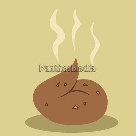 brown fresh shit steaming warm